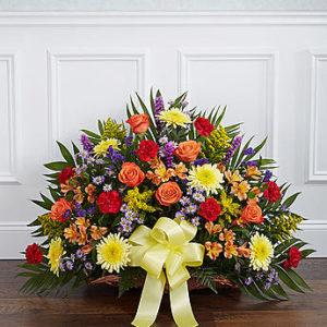 Fireside basket bright jans florist shop fireside basket bright mightylinksfo